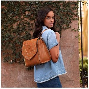 Patrica Nash Leather Flap Backpack